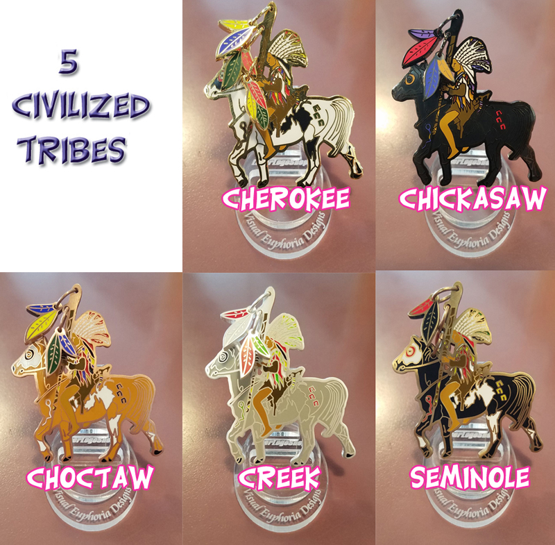 5 Civilized Tribes Full Set Of 5